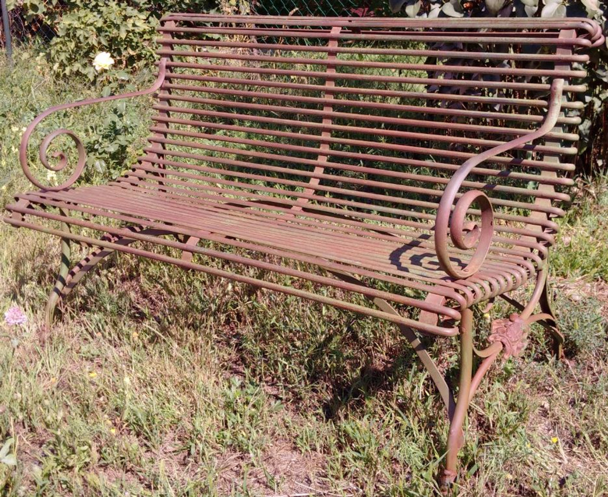 casa padrino wrought iron 2 seater garden bench garden bench with claw legs beer garden and. Black Bedroom Furniture Sets. Home Design Ideas
