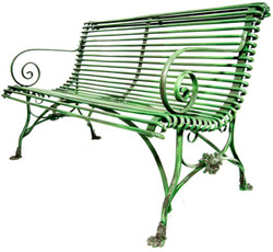 Casa Padrino wrought iron 2 seater garden bench - garden bench with claw Legs