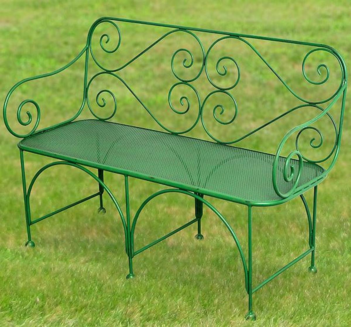 Casa Padrino Garden Bench With Perforated Seating Area Art Deco Garden Furniture Casa Padrino De