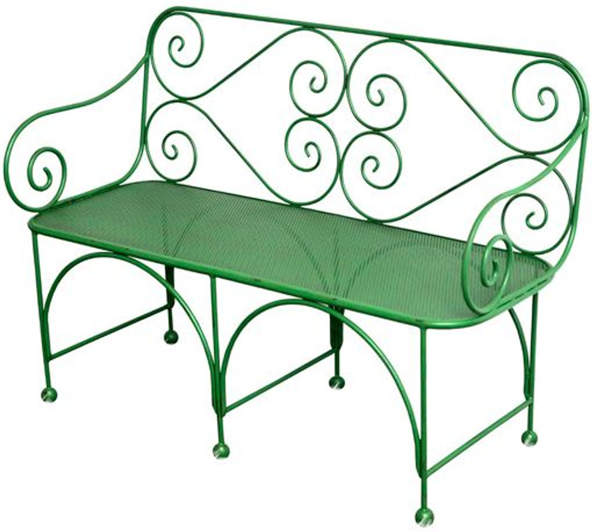 Casa Padrino Garden Bench With Perforated Seating Area Art Deco Furniture