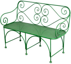 Casa Padrino garden bench with perforated seating area - Art Deco Garden Furniture