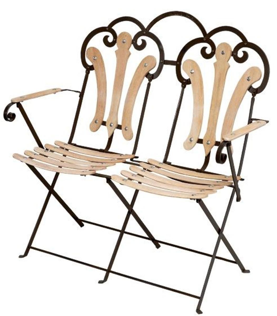 Casa Padrino Terrace Balcony Garden Bench   Foldable 2 Seater Bench