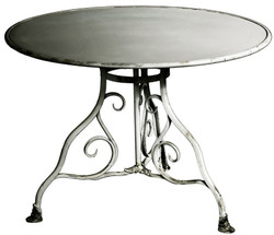Casa Padrino wrought iron garden table diameter 100 x H. 70 cm - Vintage Table
