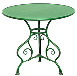 Casa Padrino Garden Table Green Diameter 80 x H. 70 cm - Wrought Iron Table