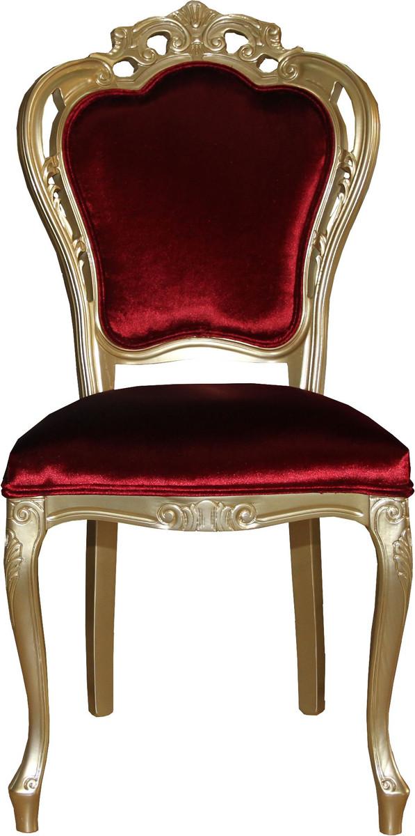 Casa padrino luxus barock esszimmer stuhl in bordeauxrot gold designer stuhl luxus qualit t - Luxus esszimmer ...