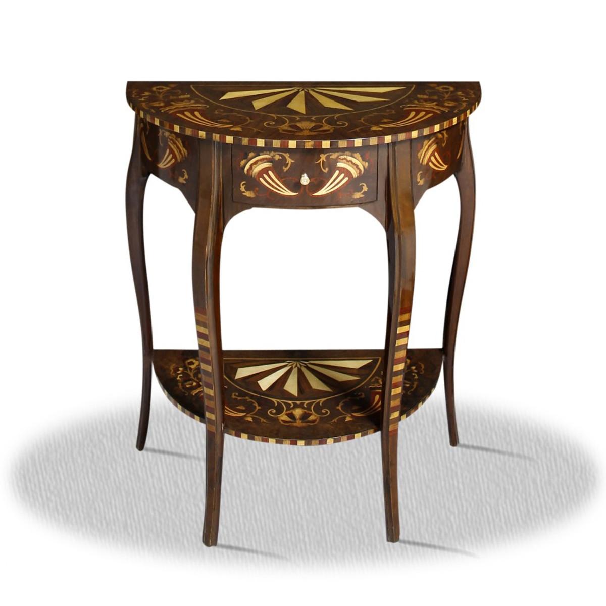 Casa padrino barock beistelltisch mit schublade 60 x 35 x for Beistelltisch 75 cm