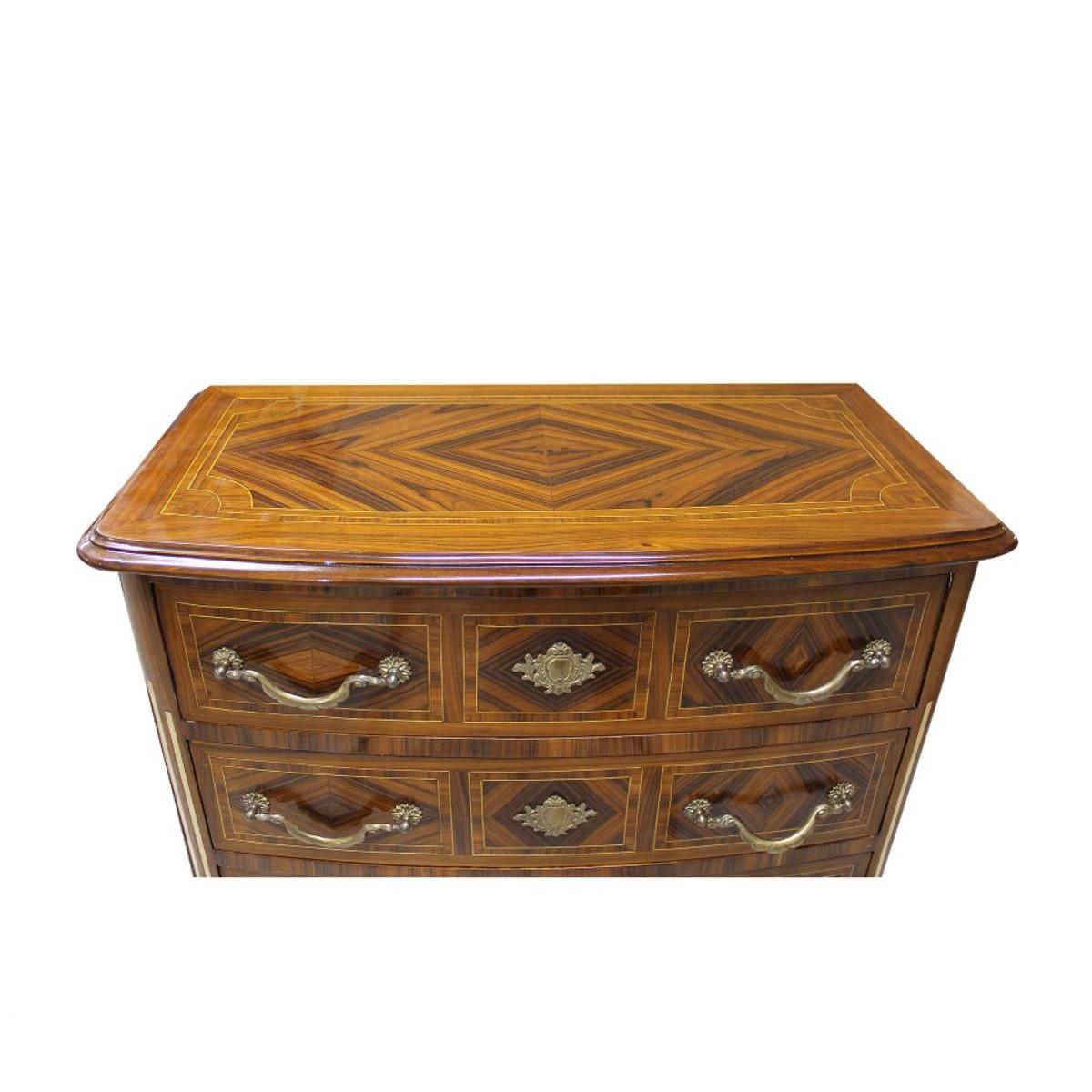 casa padrino barock kommode mit 4 schubladen 80 x 40 x h 85 cm antik m bel kommoden barock. Black Bedroom Furniture Sets. Home Design Ideas