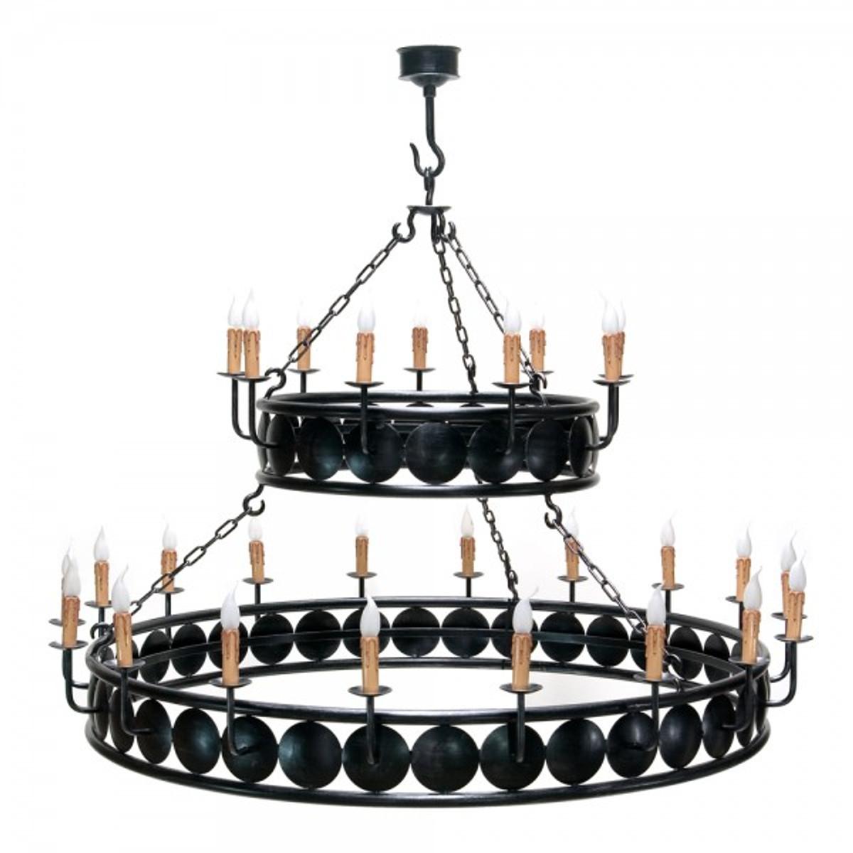 Casa Padrino Barock Schmiedeeisen Kronleuchter 27 Flammig Hängeleuchte  Lüster Hängelampe Deckenlampe Burg Schloss Leuchter U2013