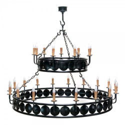 Casa Padrino Baroque wrought iron chandelier 27-burner hanging lamp chandelier hanging lamp ceiling lamp - Castle Chandelier