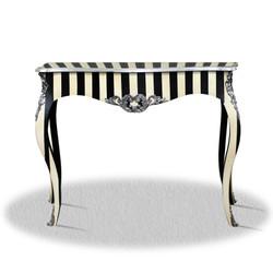 Casa Padrino baroque console black white silver 100 x 40 x H. 85 cm - Luxury Console