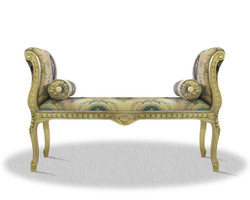 Casa Padrino baroque seat bench with pattern 110 x 40 x H. 60 cm - Hotel Furniture