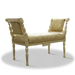 Casa Padrino baroque seat bench gold with pattern 110 x 40 x H. 70 cm