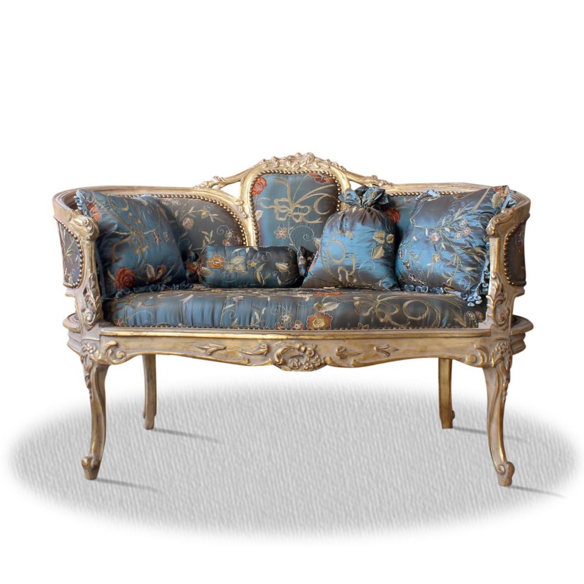 casa padrino barock sitzbank mit 4 kissen 120 x 50 x h 80 cm sitzb nke barock sitzb nke. Black Bedroom Furniture Sets. Home Design Ideas