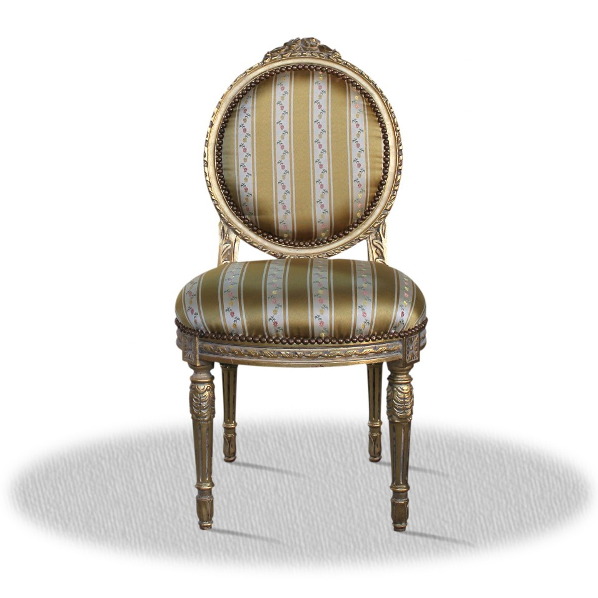Casa Padrino baroque salon chair vintage gold 50 x 50 x H. 100 cm - Antique  Furniture - Casa Padrino Baroque Salon Chair Vintage Gold 50 X 50 X H. 100 Cm
