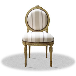 Casa Padrino baroque salon chair cream 50 x 50 x H. 100 cm - Antique Furniture