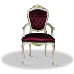 Casa Padrino baroque dining room chair with armrests 60 x 45 x H. 110 cm - Luxury Edition