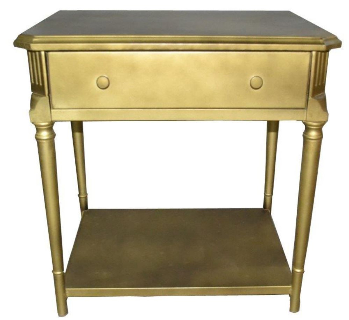 Casa Padrino Art Deco Luxury Bedside Table With Drawer Gold Antique Style Side Table Night Console Table