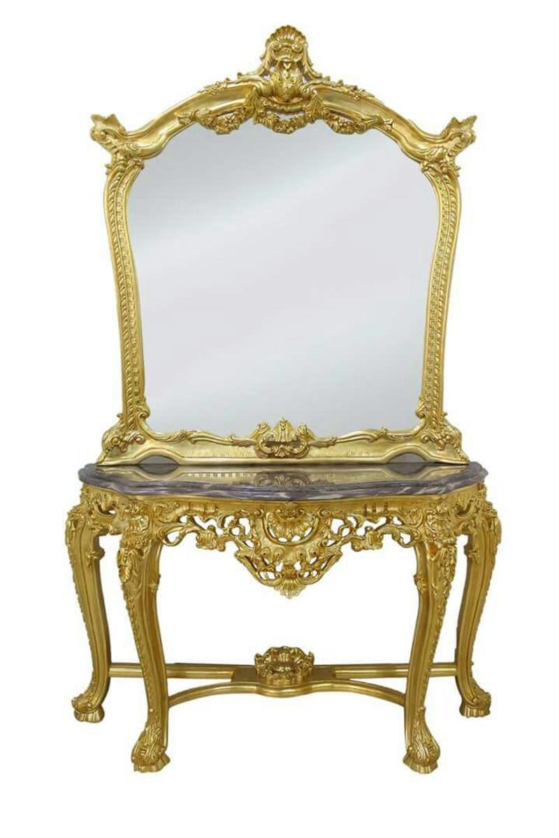 casa padrino luxus spiegelkonsole mit marmorplatte barock spiegelkonsole spiegel barock spiegel barock spiegelkonsolen