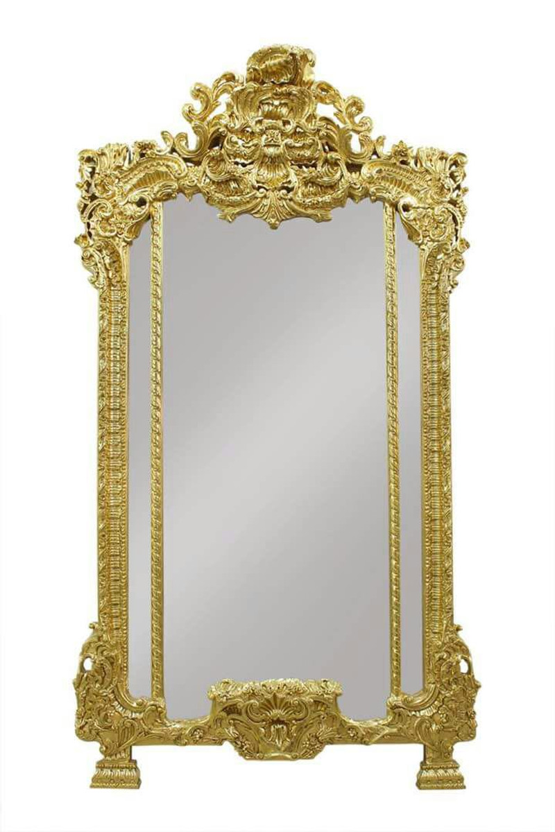 Casa padrino luxury baroque wall mirror gold hotel for Baroque mirror