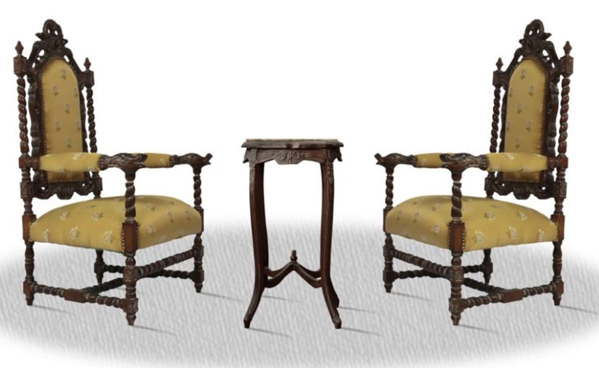 Casa Padrino baroque thron chair set with side table ...