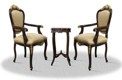Casa Padrino baroque dining room chair set with side table - Baroque Furniture
