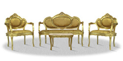 Casa Padrino baroque salon set gold - Luxury Collection