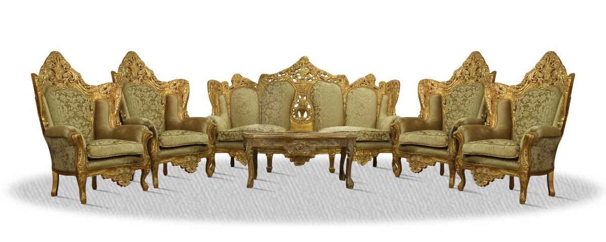 Casa Padrino Baroque Sofa Set Antique Gold Le Sumptuous
