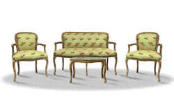 Casa Padrino baroque salon set vintage gold light green - Antique Style