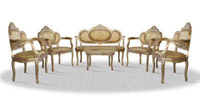 Casa Padrino Barock Salon Set Vintage Gold - Luxus Edition