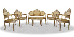 Casa Padrino baroque salon set vintage gold - Luxury Edition