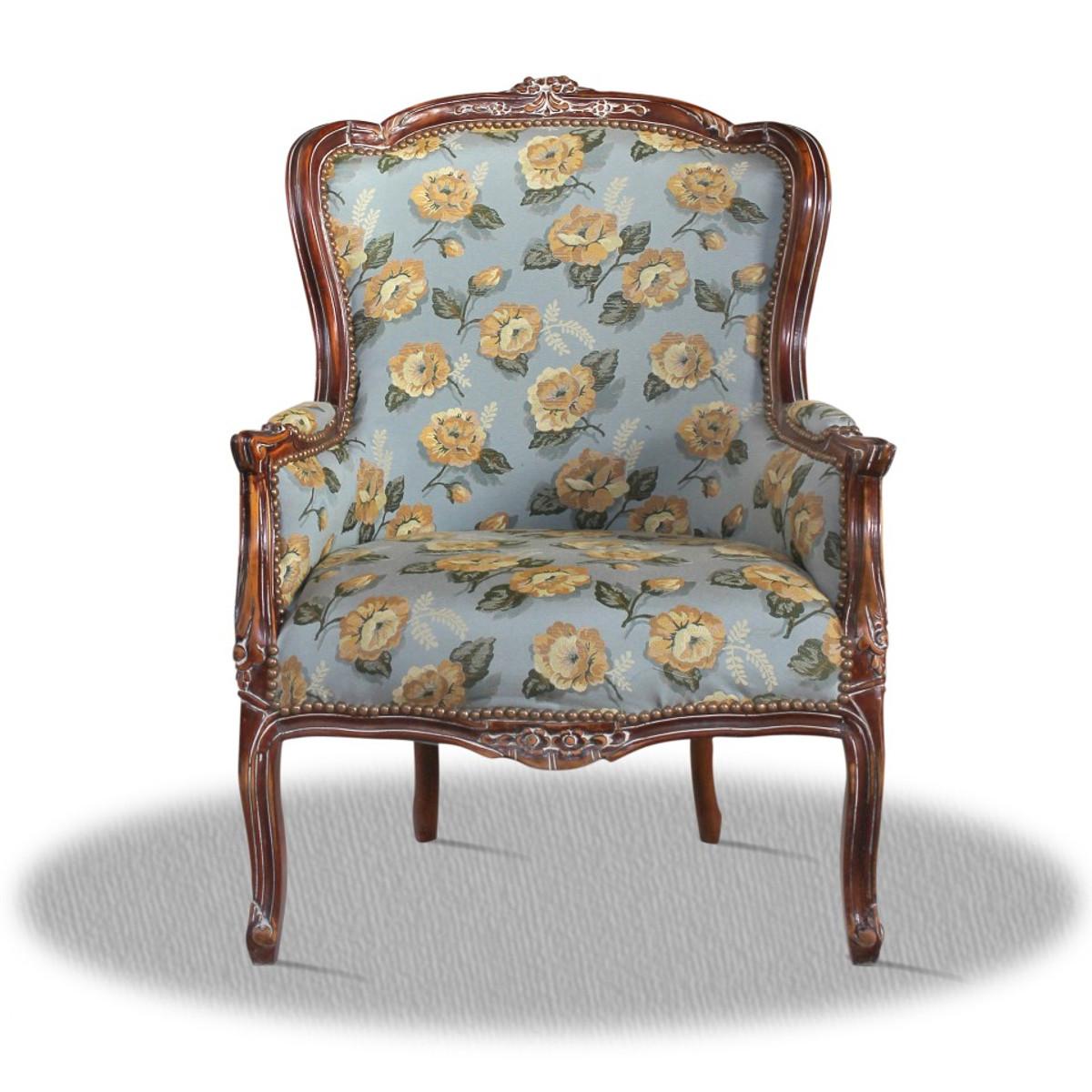 casa padrino barock sessel mit blumenmuster hotel kollektion sessel barock salon sessel. Black Bedroom Furniture Sets. Home Design Ideas