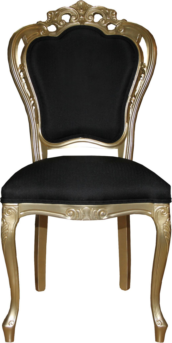 Casa Padrino Baroque Luxury Dining Room Set Black Gold