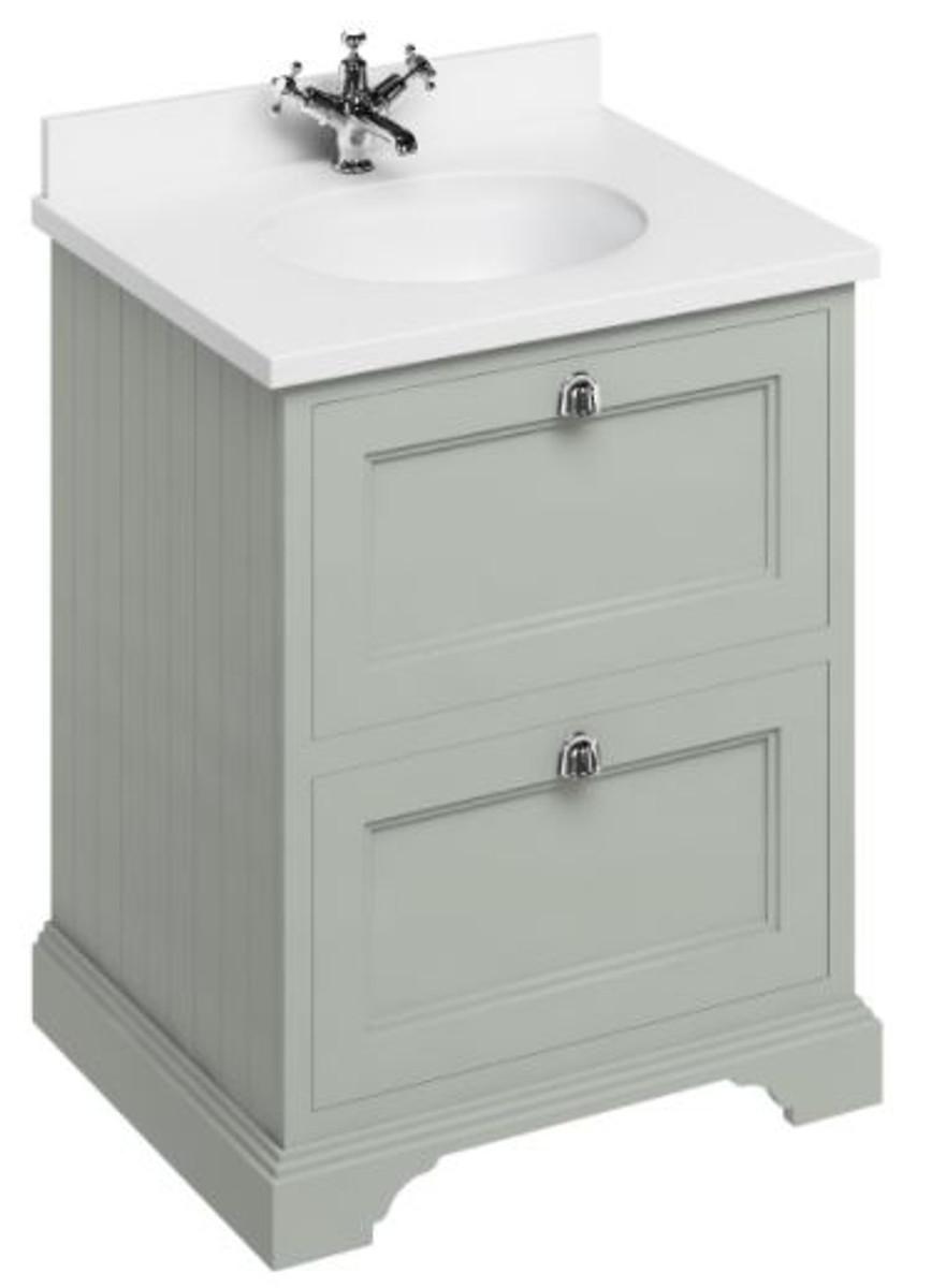 casa padrino waschschrank waschtisch mit marmorplatte und 2 schubladen 67 x 55 x cm. Black Bedroom Furniture Sets. Home Design Ideas