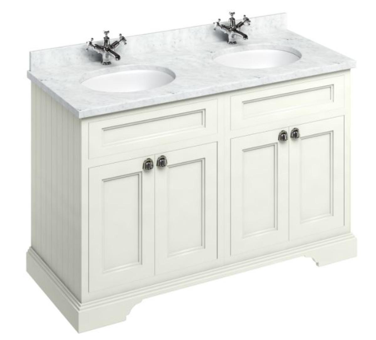 casa padrino doppel waschschrank mit marmorplatte und 4. Black Bedroom Furniture Sets. Home Design Ideas