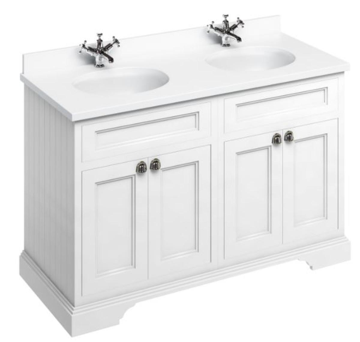 casa padrino doppel waschschrank waschtisch mit marmorplatte und 4 t ren 130 x 55 x h 93 cm. Black Bedroom Furniture Sets. Home Design Ideas