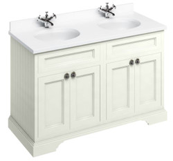 Casa Padrino washing cabinet / washbasin with marble top and 4 doors 130 x 55 x H. 93 cm