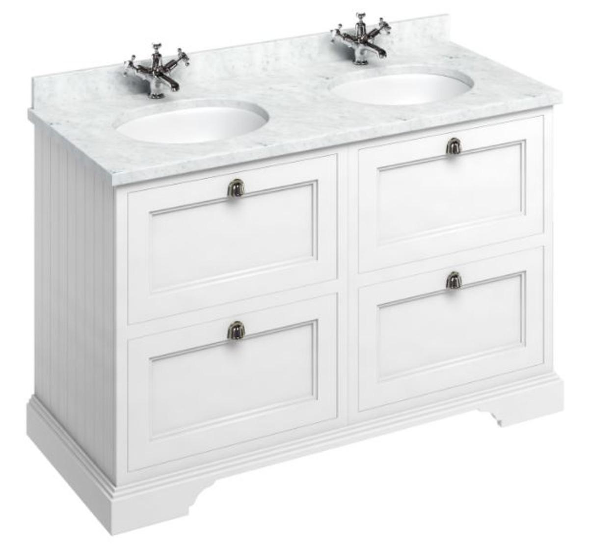 casa padrino doppel waschschrank waschtisch mit marmorplatte und 4 schubladen luxus. Black Bedroom Furniture Sets. Home Design Ideas