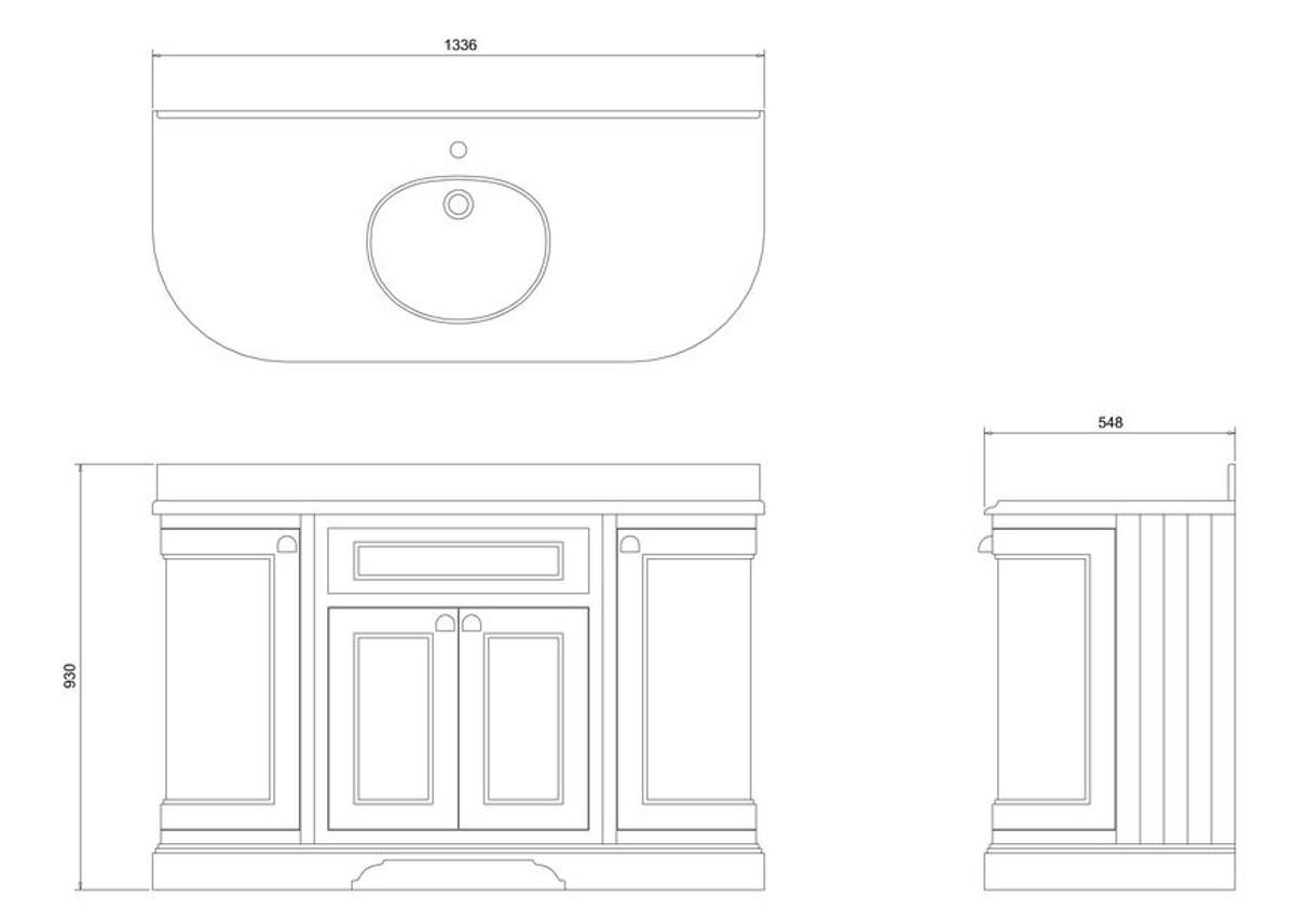 casa padrino waschschrank mit granitplatte und 4 t ren. Black Bedroom Furniture Sets. Home Design Ideas
