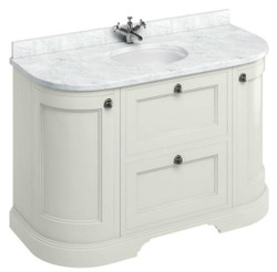 Casa Padrino washing cabinet / washbasin with marble top doors and drawers 134 x 55 x H. 93 cm