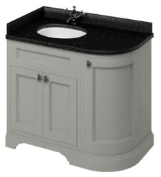 Casa Padrino washing cabinet / washbasin with granite top and 3 doors 98 x 55 x H. 93 cm