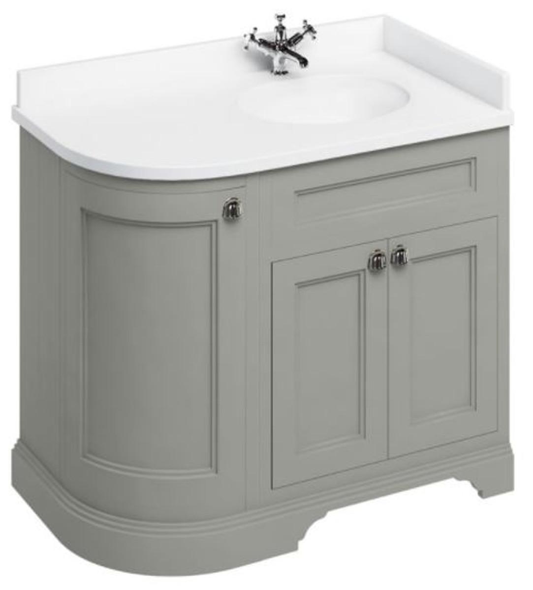 casa padrino waschschrank mit marmorplatte und 3 t ren jugendstil waschtisch freistehende. Black Bedroom Furniture Sets. Home Design Ideas