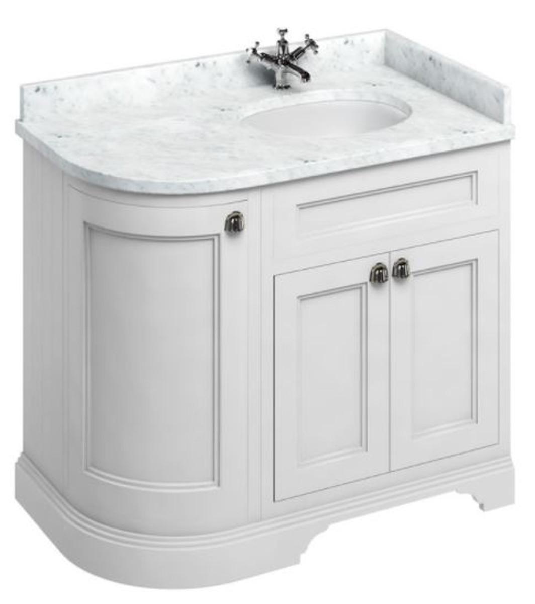 casa padrino waschschrank mit marmorplatte und 3 t ren luxus waschtisch freistehende. Black Bedroom Furniture Sets. Home Design Ideas