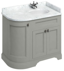 Casa Padrino washing cabinet with marble top and 3 doors  - Luxury Washbasin