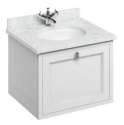 Casa Padrino luxury hanging washing cabinet / washbasin with marble top and drawer - Luxury Collection