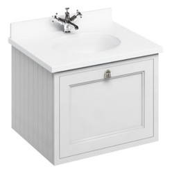 Casa Padrino luxury hanging washing cabinet / washbasin with marble top and drawer 66 x 55 x H. 59 cm