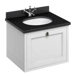 Casa Padrino luxury hanging washing cabinet / washbasin with granite top and drawer - Art Nouveau Design