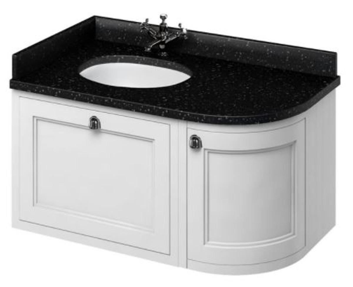 Casa Padrino Hänge-Waschschrank / Waschtisch mit Granitplatte Schublade und Tür 98 x 55 x H. 59 cm 3