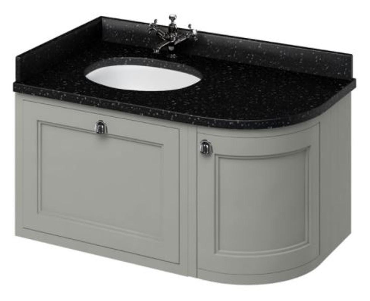 casa padrino h nge waschschrank waschtisch mit granitplatte schublade und t r 98 x 55 x h 59. Black Bedroom Furniture Sets. Home Design Ideas