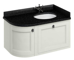 Casa Padrino hanging washing cabinet with granite top drawer and door 98 x 55 x H. 59 cm