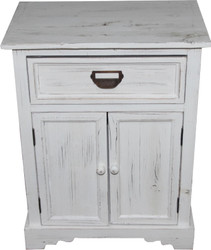 Casa Padrino Shabby Chic country house style chest of drawers with drawers Antique white B 50 cm, H 64 cm - Antique chest of drawers